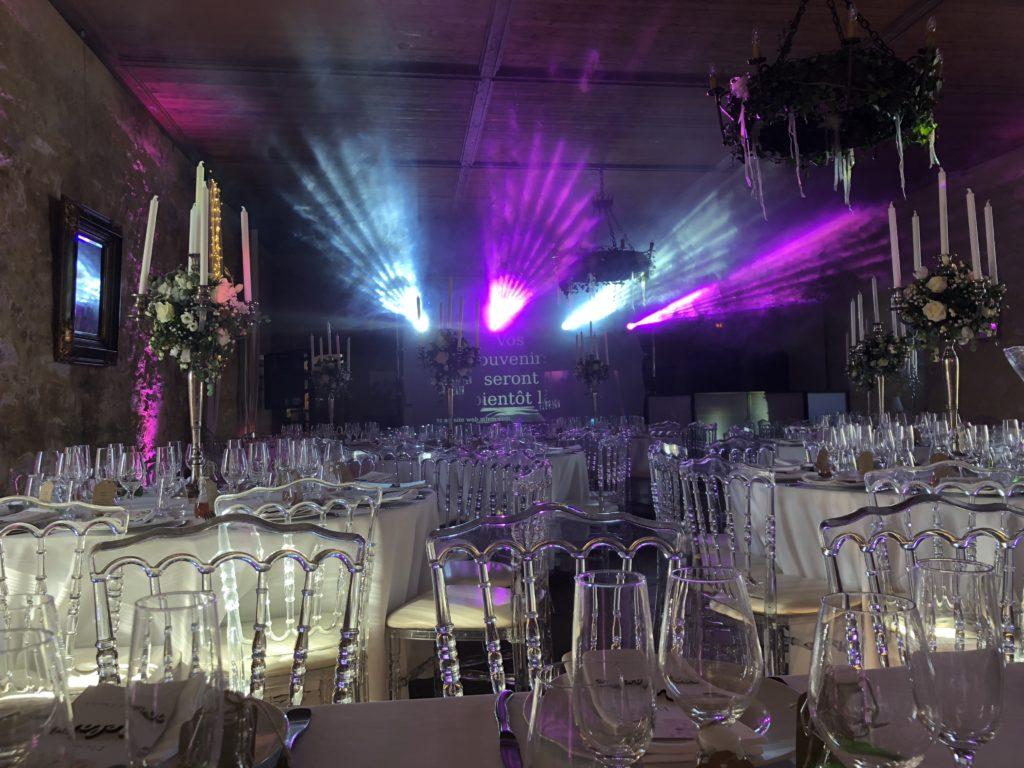 Château Roussillon, Cahors Evenement, DJ, magie, illumination, mise en lumière,